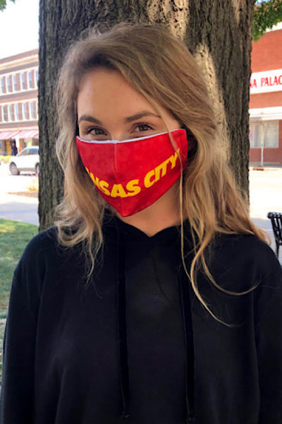Kansas City Face Mask - Red and Gold