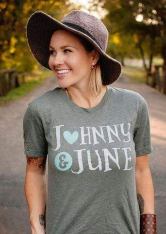 Johnny & June Graphic Tee-Graphic Tee-Moonshine and Lace Boutique