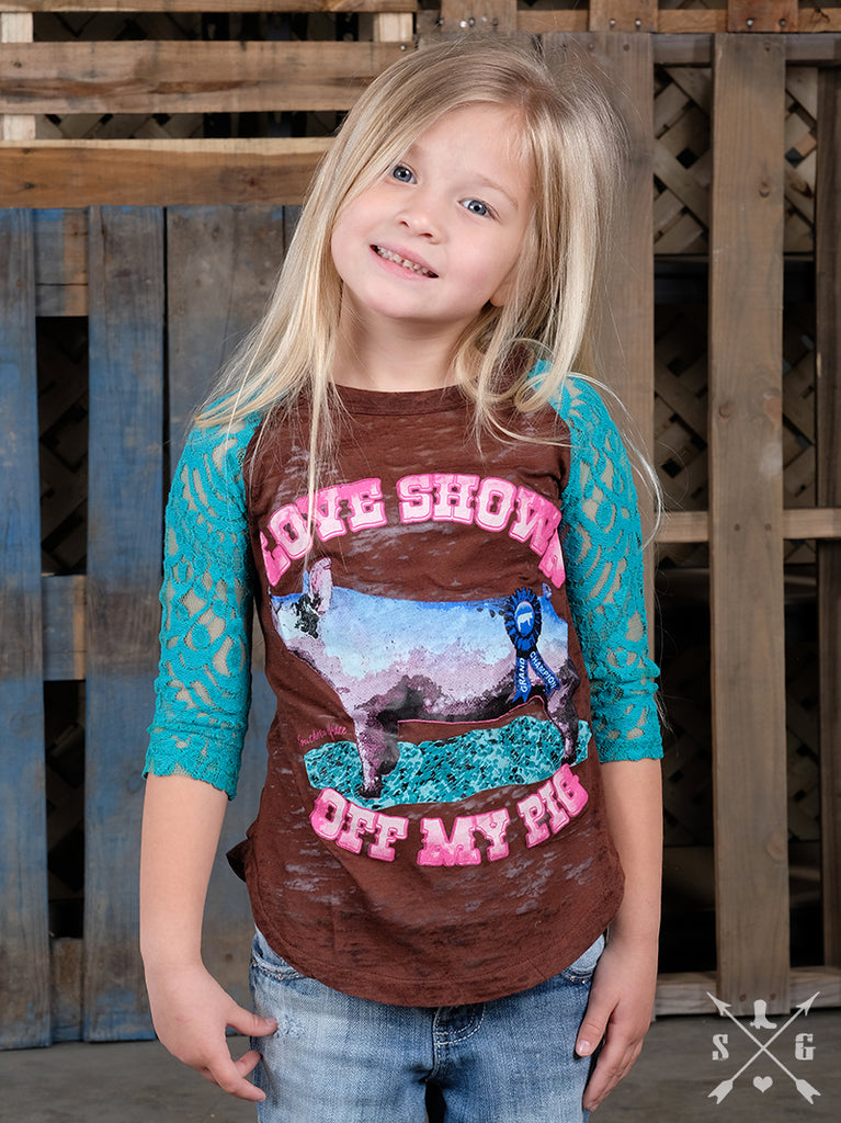 Love Showin' Off My Pig - Girls-Graphic Tee-Moonshine and Lace Boutique