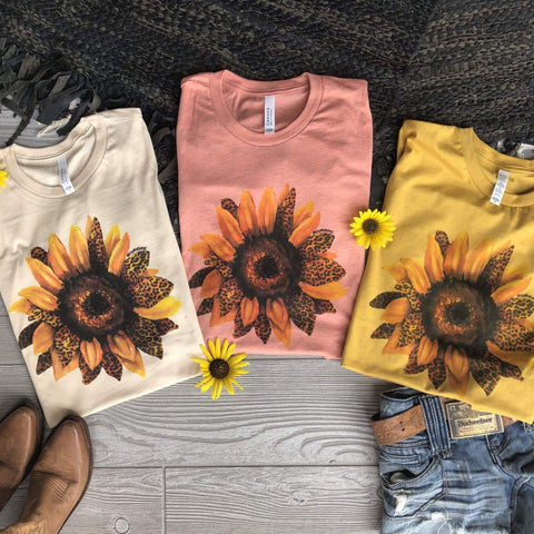 Leopard Sunflower Tee (S-3XL)