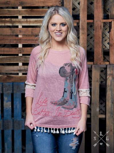 Life is Better in Boots Tunic-Graphic Tee-Moonshine and Lace Boutique