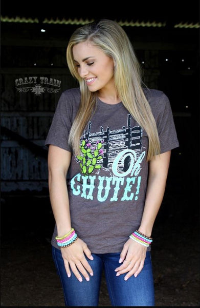 CRAZY TRAIN * Oh Chute Graphic Tee