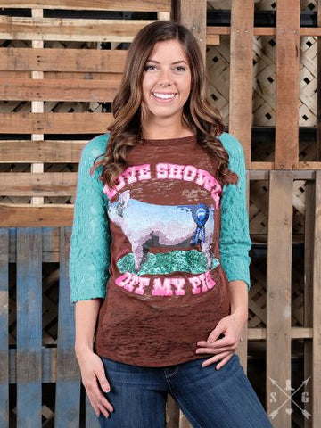 Love Showin' Off My Pig-Graphic Tee-Moonshine and Lace Boutique