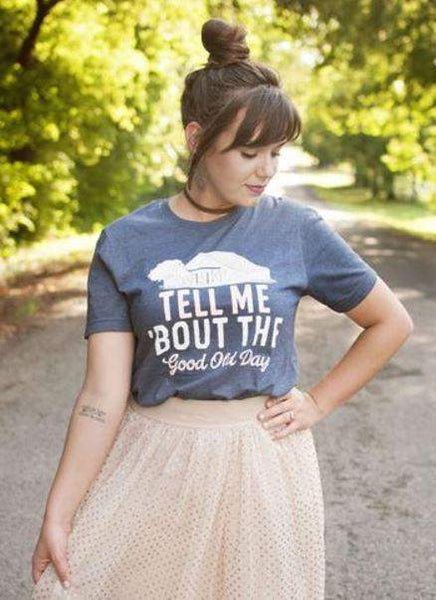 Tell Me 'Bout The Good Old Days Graphic Tee-Graphic Tee-Moonshine and Lace Boutique