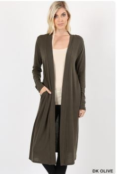 Sweater Open Front Duster Cardigan-Kimonos/Cardigans/Vest/Shawls/Jackets-Moonshine and Lace Boutique