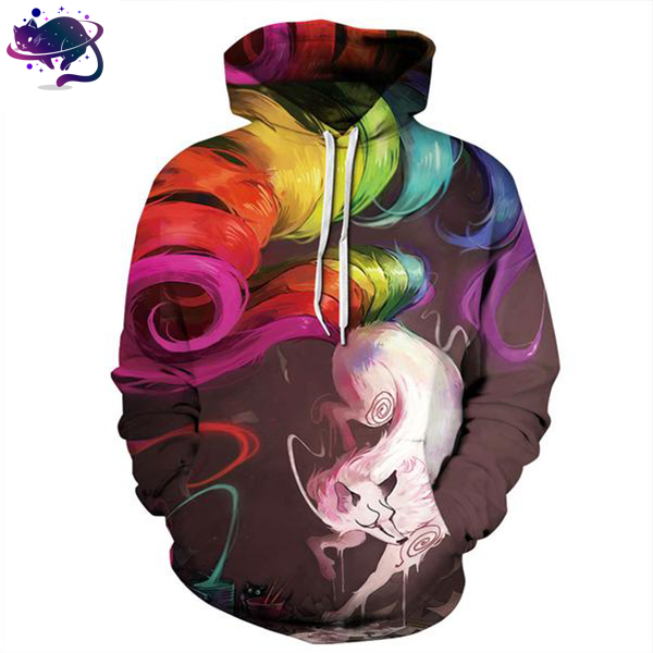 Colorful Wolf Hoodie - UltraRare