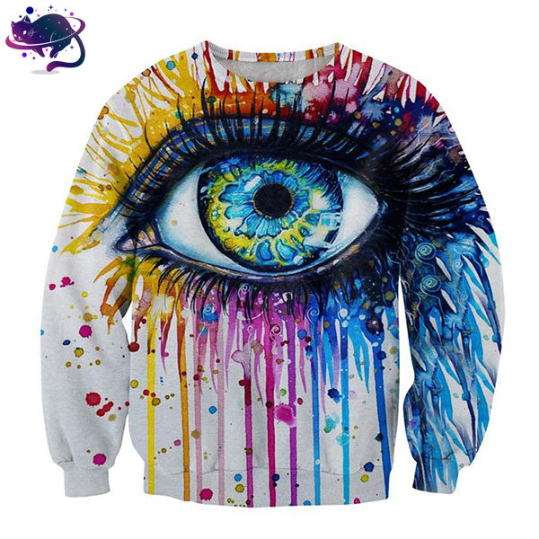 Rainbow Eye Crew Neck - UltraRare