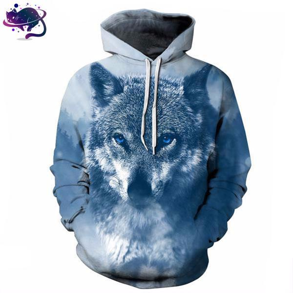 Blue Eyed Wolf Hoodie - UltraRare