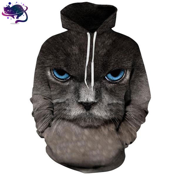 Blue Eyed Cat Hoodie - UltraRare
