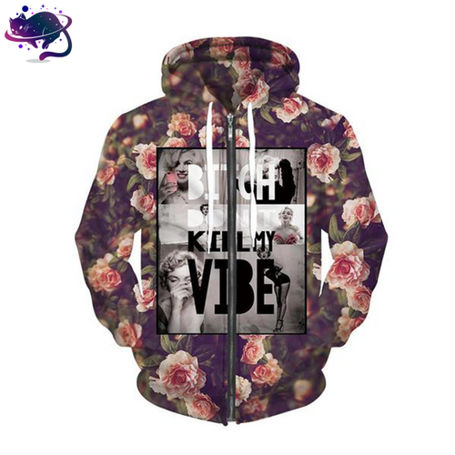 Bitch Don't Kill My Vibe Zipper Hoodie