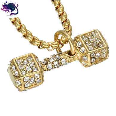 Iced Out Dumbbell Chain
