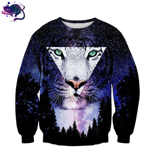 White Tiger Galaxy Crew Neck - UltraRare