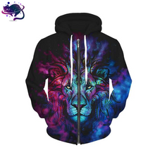 Trippy Lion Zipper Hoodie - UltraRare
