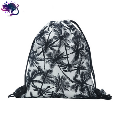 Palm Tree Drawstring Bag