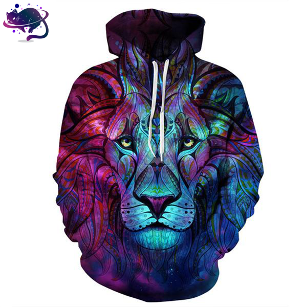 Trippy Lion Hoodie - UltraRare