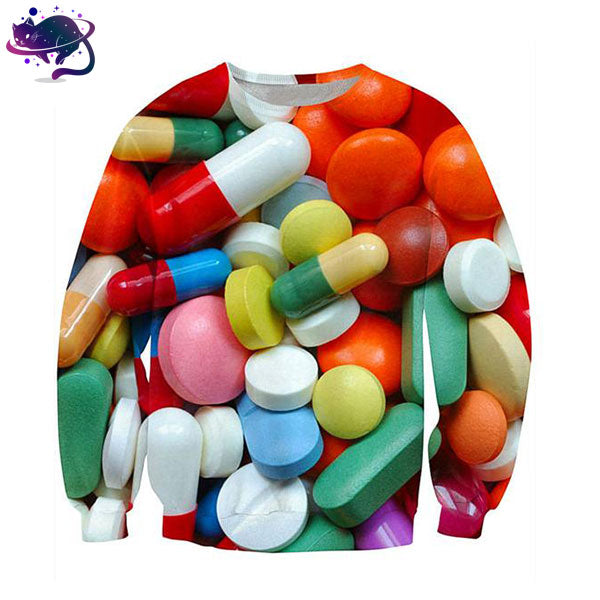 Poppin' Pills Crew Neck - UltraRare