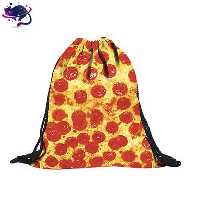 Pepperoni Pizza Drawstring Bag
