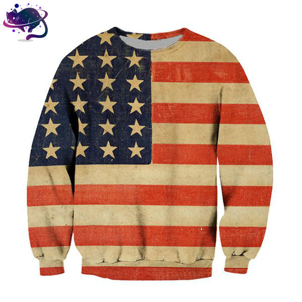 American Flag Crew Neck - UltraRare