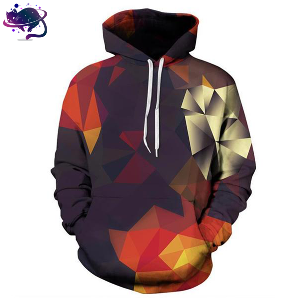 3D Abstract Glow Block Hoodie - UltraRare