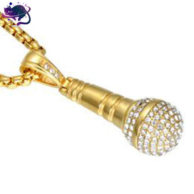 Iced Out Microphone Chain