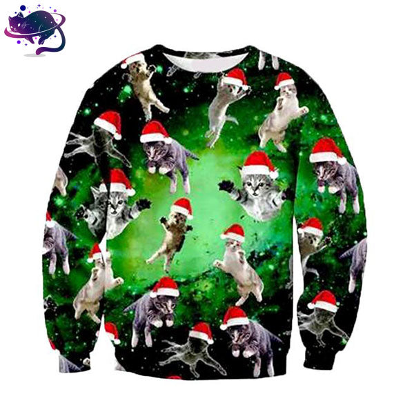 Santa Cat Crew Neck - UltraRare