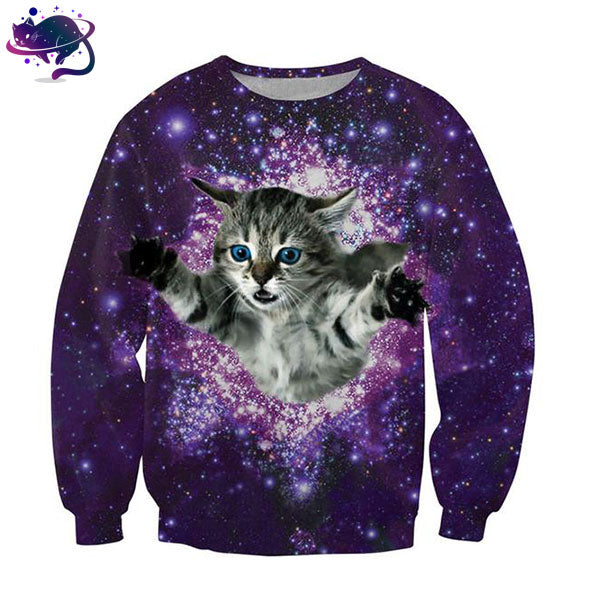Space Cat Crew Neck - UltraRare