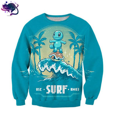 Squirtle Surfing Crew Neck