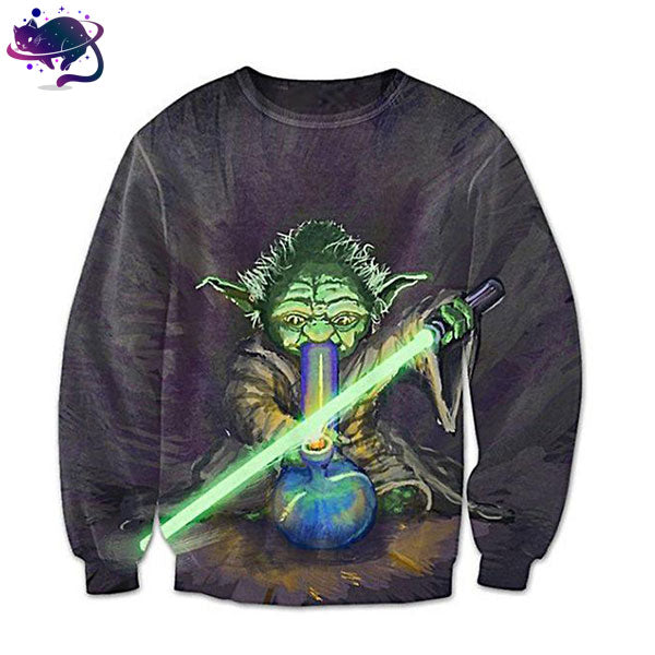 Yoda Going To Space Crew Neck - UltraRare