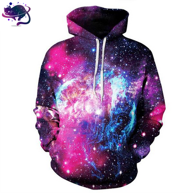 Purple Space Galaxy Hoodie