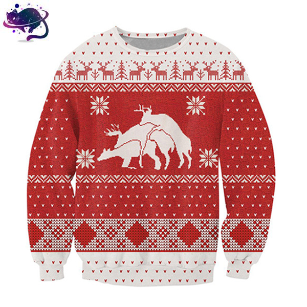 Naughty Reindeer Crew Neck