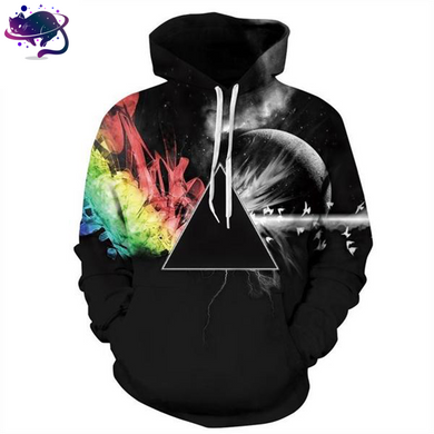 Illuminati Rainbow Refraction Hoodie