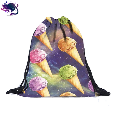 Space Ice Cream Drawstring Bag