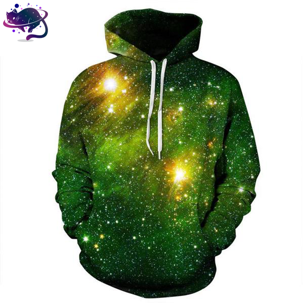 Green Space Galaxy Hoodie - UltraRare