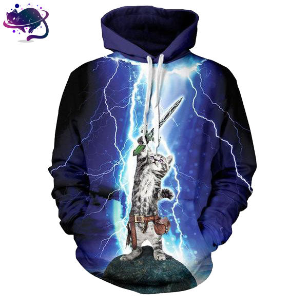 Lightning Warrior Cat Hoodie - UltraRare