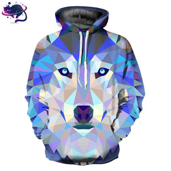 3D Wolf Hoodie - UltraRare