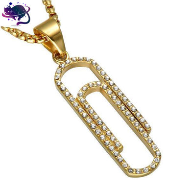 Iced Out Paperclip Chain