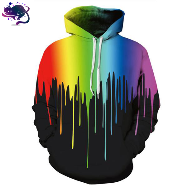Colorful Dripping Paint Hoodie - UltraRare