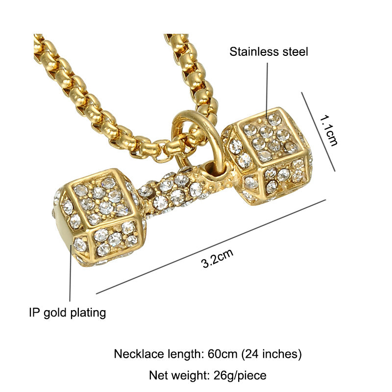 Iced Out Dumbbell Chain - UltraRare