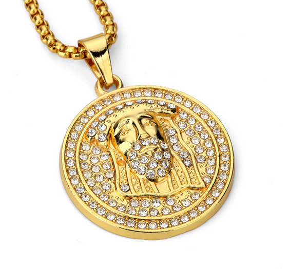 Iced Out Jesus Pendant Chain