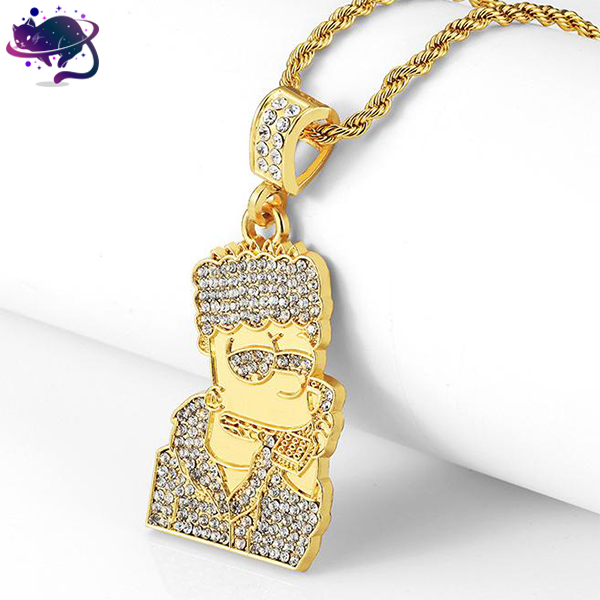 Iced Out Bart Simpson Pimp Chain - UltraRare