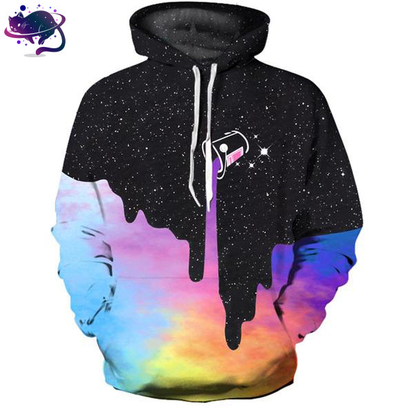 Colorful Dripping Space Hoodie