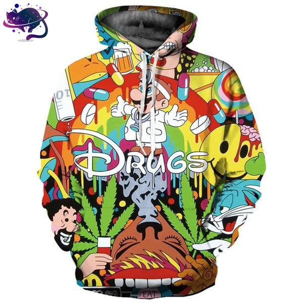 Drugs Cartoon Hoodie