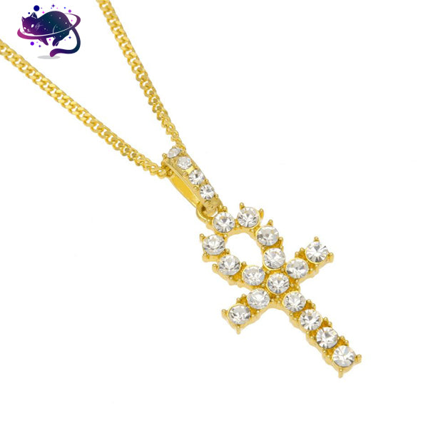 Iced Out Egyptian Cross Chain