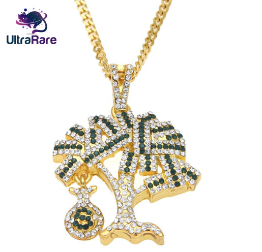 Iced Out Money Tree Chain - UltraRare