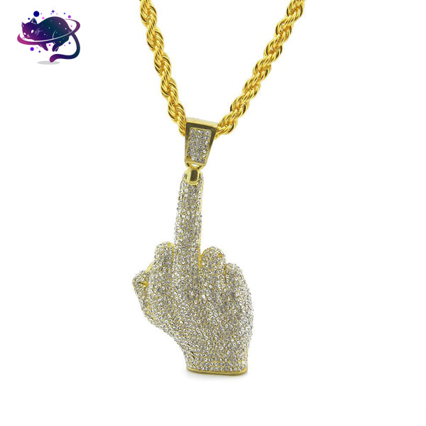 Iced Out Middle Finger Chain - UltraRare