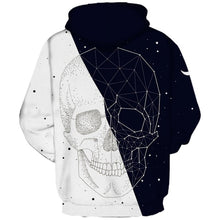 Black and White Skull Hoodie