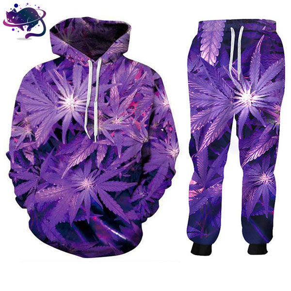 Purple Weed Jumpsuit - UltraRare