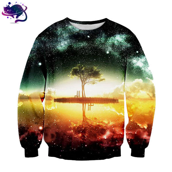 Space Island Illusion Crew Neck - UltraRare