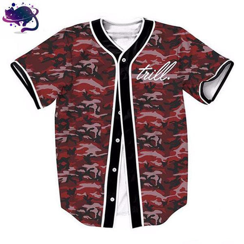 Trill Red Camo Jersey