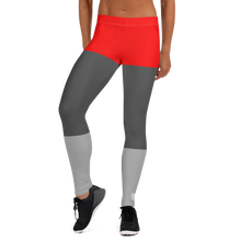 Red Tricolor Leggings